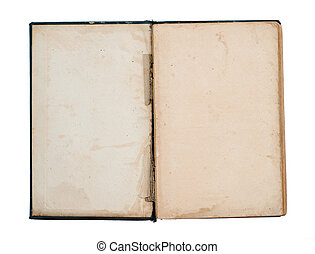 empty title page of old book