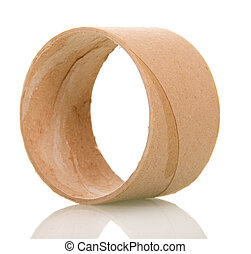 Empty toilet paper roll isolated on white