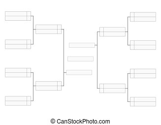 Empty tournament bracket template for word contest...
