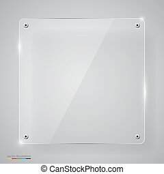 Empty transparent glass framework.