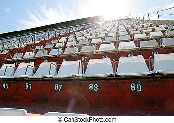 Empty tribune