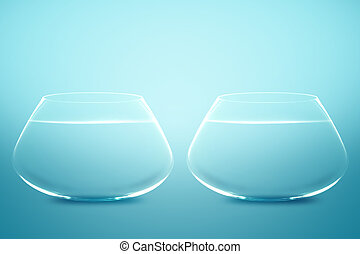 Empty Two fishbowls