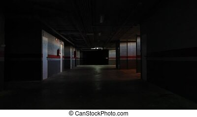 underground garage - Empty underground garage in a...