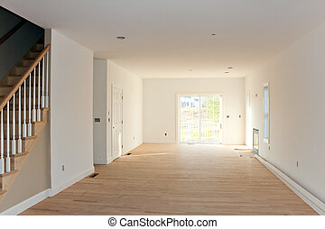 Empty Unfinished Home Interior - New home construction...