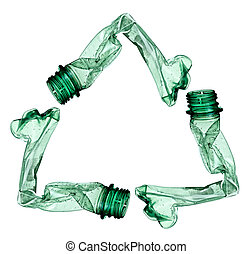 empty used trash bottle ecology env - close up of an empty...