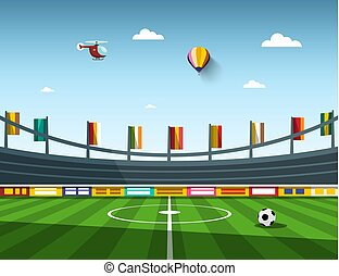Empty Vector Football - Soccer Stadium