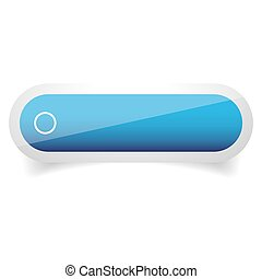 Empty vector glossy button