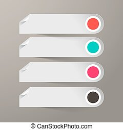 Empty Vector Paper Labels Set