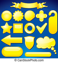 Yellow Design Elements