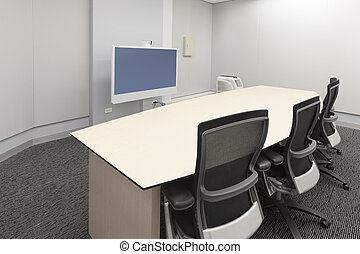 Empty video conference room