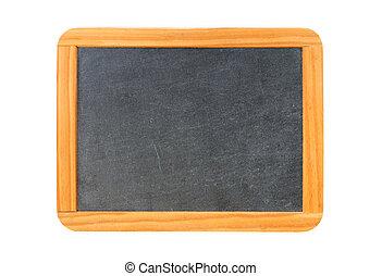 Empty vintage blackboard with wooden frame