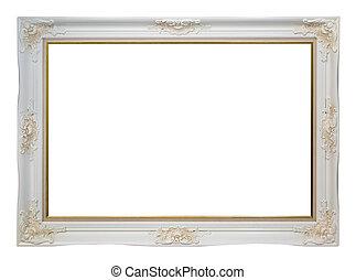 Empty vintage frame