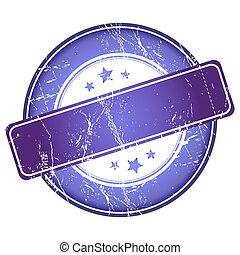 Empty violet stamp.