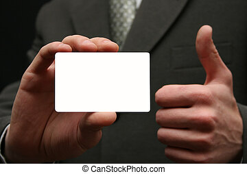 Empty visiting card