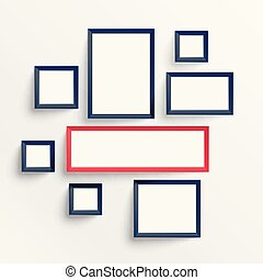 empty wall frame decoration background