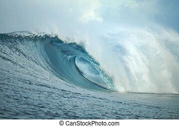 Empty wave, Mentawai Islands, Indonesia - Big blue tropical...