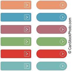 Empty web button set. Vector illustration eps10