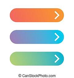 Empty web button set vector