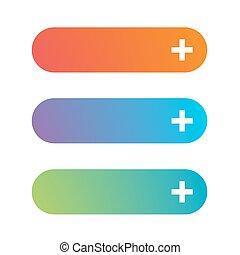 Empty web button set