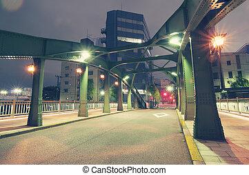 night driveway in Tokyo