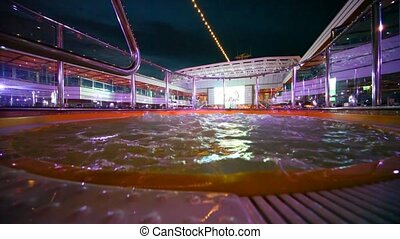 empty whirlpool in deck of cruise ship