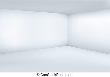 Empty white 3d modern room with space clean corner vector illustration
