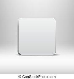 Empty White App Button Icon