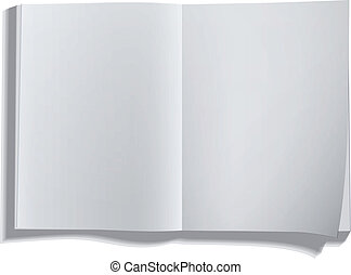 Empty white book isolated on white.