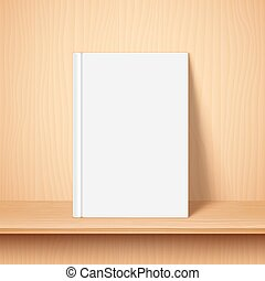 Empty White Book Template