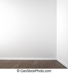 empty white corner