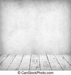 Empty white interior of vintage room.