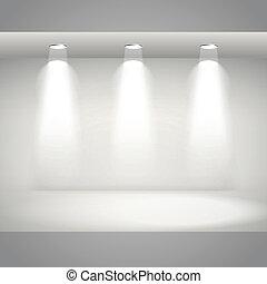 empty white interior wall