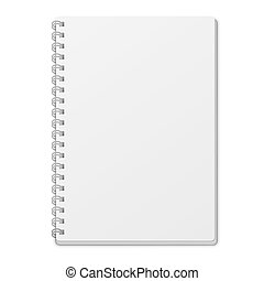 Empty White Notebook Template