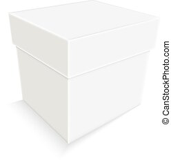 empty white paper box isolated