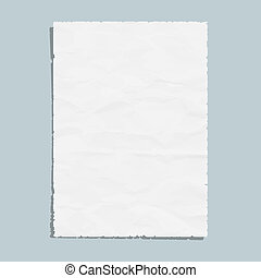 Empty white paper sheet
