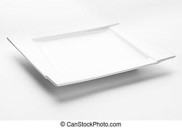 Empty white plate