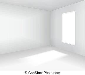 Empty white room. 3d blank interior