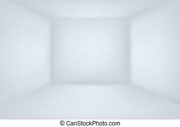 Empty white room. Minimal 3d interior vector illustration