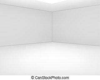 Empty white room. Vector illustration