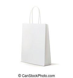 Empty White Shopping Bag