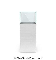 empty white showcase. 3d illustration isolated on white...