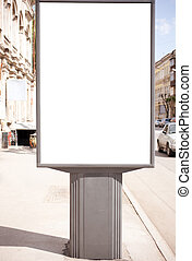 Empty white space - empty white space on street billboard, ...