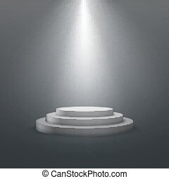 empty white stage podium. vector illustration. advertising...