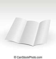 empty window fold flyer in white background - white style of...