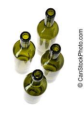 Empty wine bottle closeup