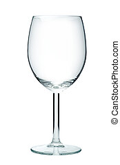 Empty wine glass, isolated on a white background