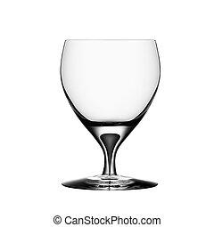 Empty wine glass