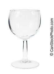 Empty wineglass isolated on white