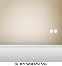 Empty wood panel wall