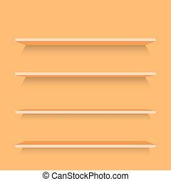 Empty Wood Shelves Template